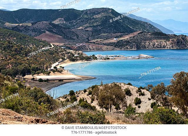 Mediterranean coastal scenery in Al Hoceima National Park, Morocco