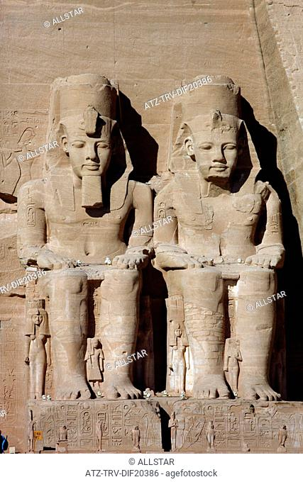 THE GREAT TEMPLE OF RAMESSES II; ABU SIMBEL, NUBIA, EGYPT; 11/01/2013