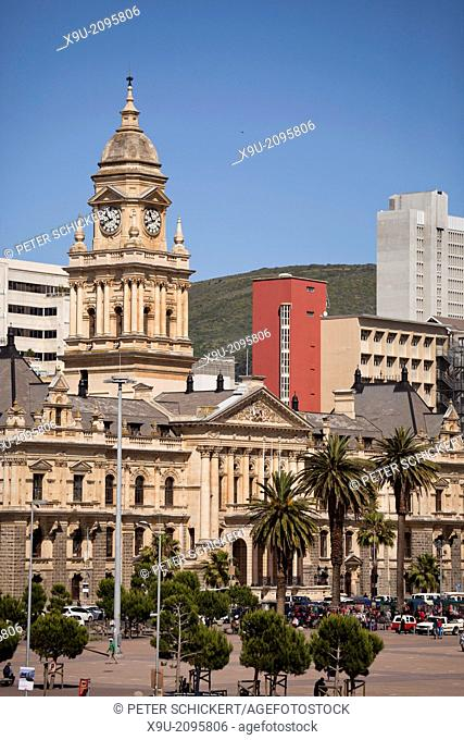 Cape Town City Hall and Grand Parade in Cape Town, Western Cape, South Africa