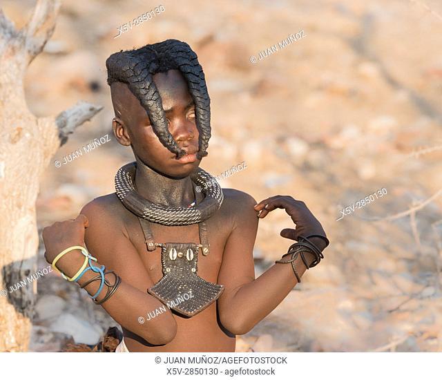 Young Himba. Etosha National Park. Namibia.Africa