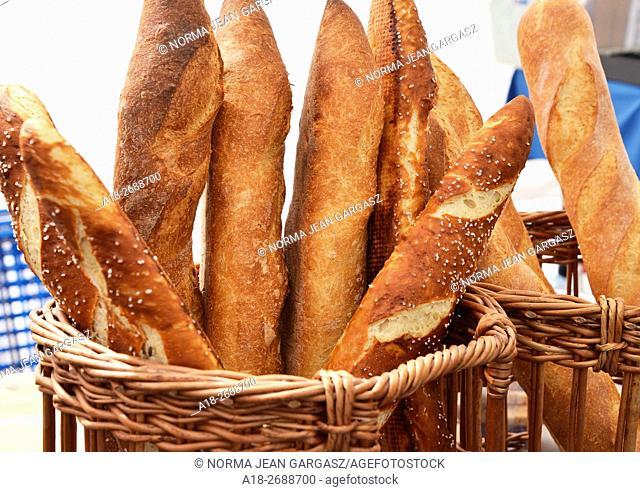 Artisan and French bread, Farmers Market, Tucson, Arizona, USA