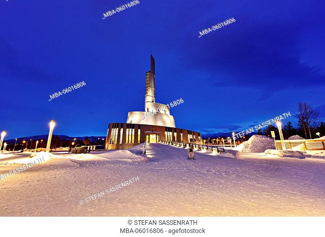 Northern Lights cathedral in Alta