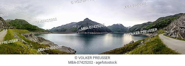 High Tauern National Park, Kölnbrein Dam reservoir, Carinthia, Austria