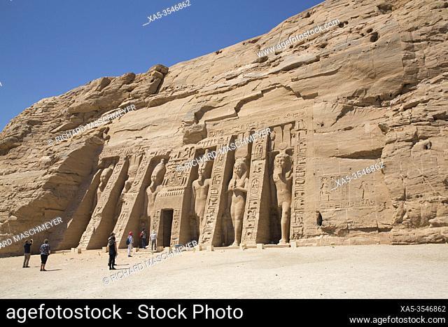 Temple of Hathor and Nefetari, UNESCO World Heritage Site, Abu Simbel, Egypt