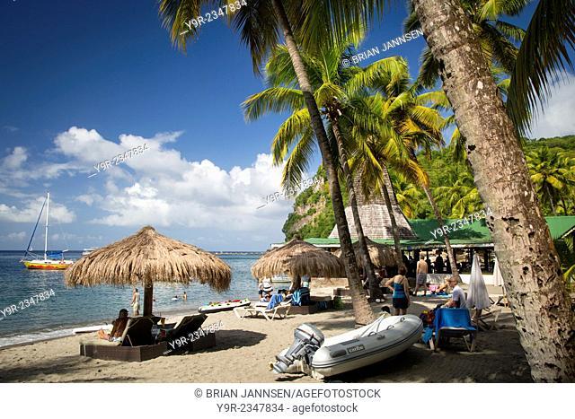 Anse Chastanet Beach Resort near Soufriere, St Lucia, West Indies