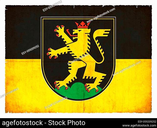 Flag of the German town Heidelberg (Baden-Wuerttemberg, Germany) created in grunge style