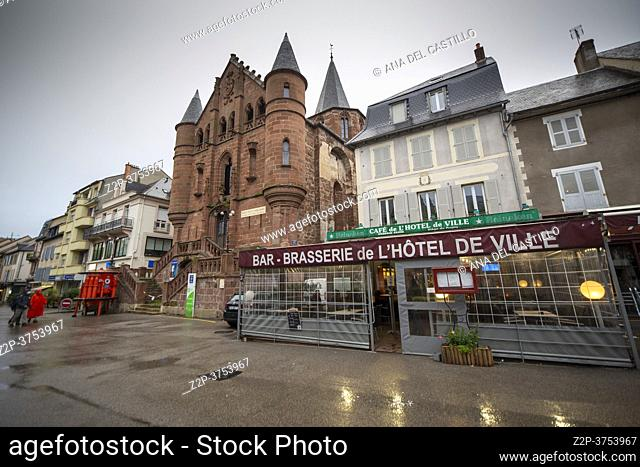 Espalion Midi Pyrenees Aveyron France on September 26, 2020. A town on the banks of the Lot full of picturesque charm