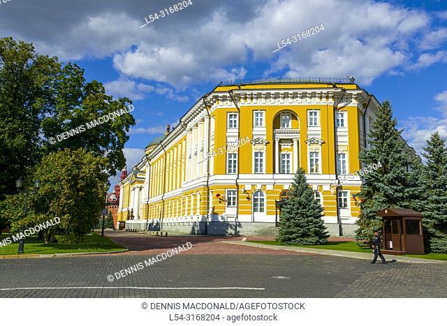 Kremlin Senate building inside The Kremlin Moscow Russian Moskva city National capital of Russia. The Moscow Kremlin (Russian: МоÑ. ковÑ