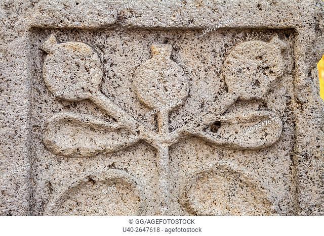 Guatemala, Antigua, stone carving