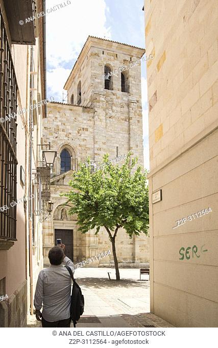 San Ildefonso romanesque church in Zamora Castile Leon Spain