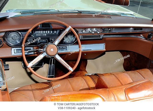inside a 1966 Cadillac convertible