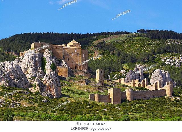 Castle, Castillo de Loarre, early in summer, landscape, Loarre, Aragon, Spain
