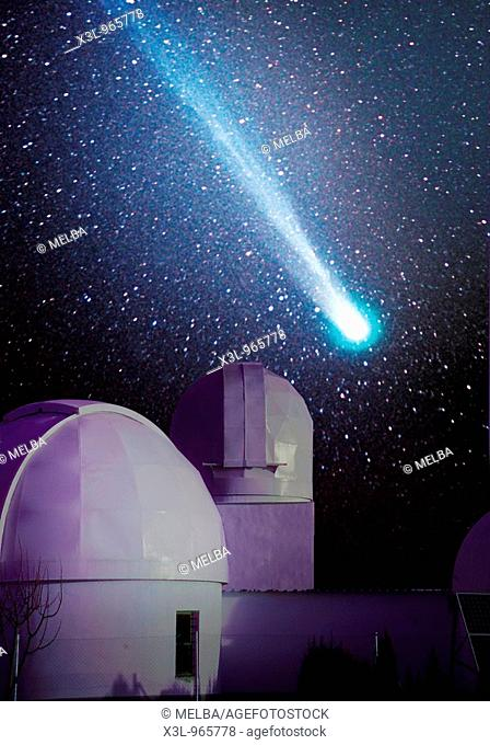 Comet and observatory