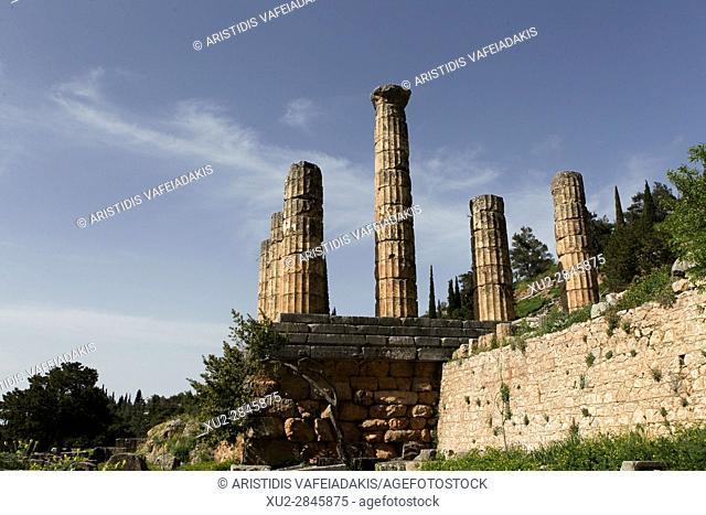 the Temple of Apollo, Delphi, Greece