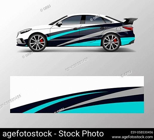 Sport car racing wrap design. vector design. abstract Racing graphic vector for sport car wrap design
