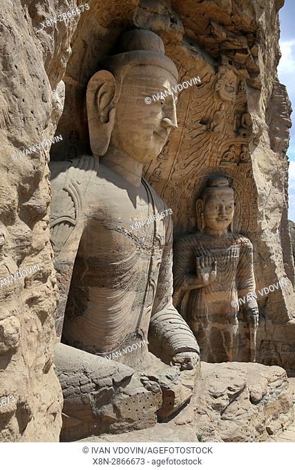 Yungang Grottoes, near Datong, Shanxi, China