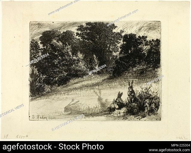 Combe Bottom - 1860 - Francis Seymour Haden English, 1818-1910 - Artist: Francis Seymour Haden, Origin: England, Date: 1860