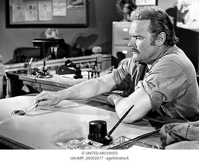 Die Rache der schwarzen Spinne, (THE SPIDER) USA 1958, Regie: Bert I. Gordon, ED KEMMER, Stichwort: Schreibtisch