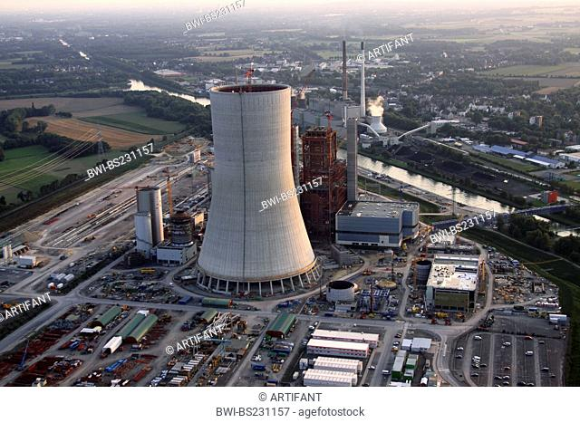 legally stopped new building of a coal-burning power plant in Datteln, Germany, North Rhine-Westphalia, Ruhr Area, Datteln