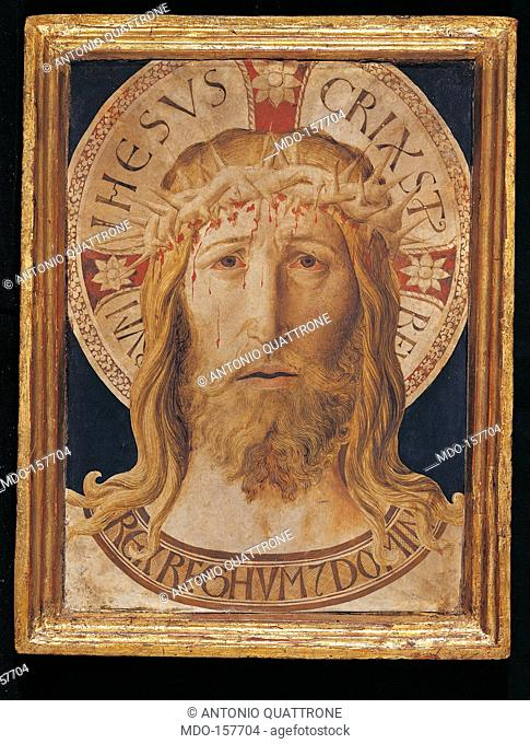 The Volto Santo (Holy Face), by Benozzo di Lese di Sandro known as Benozzo Gozzoli, 1420 - 1497, 15th Century, ink and tempera on parchment mounted on panel