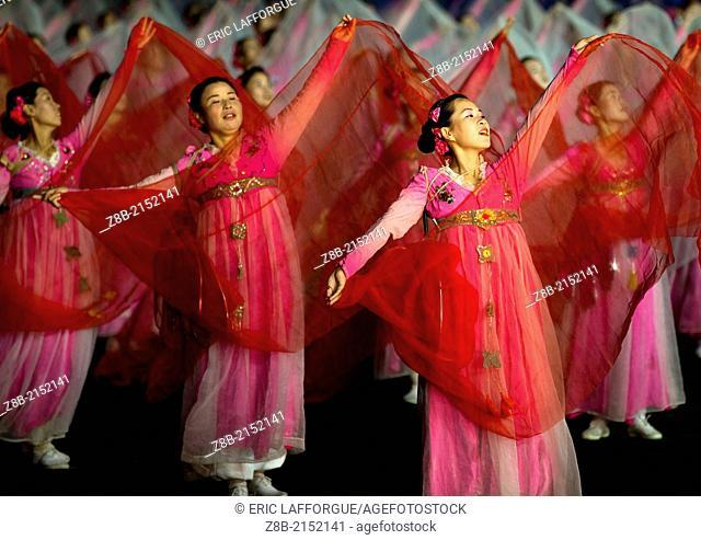 Arirang Mass Games At May Day Stadium, Pyongyang, North Korea