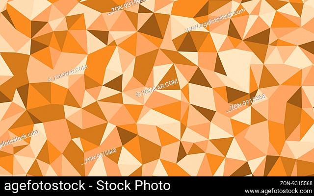 Abstract brown vector lowploly of many triangles background for use in design