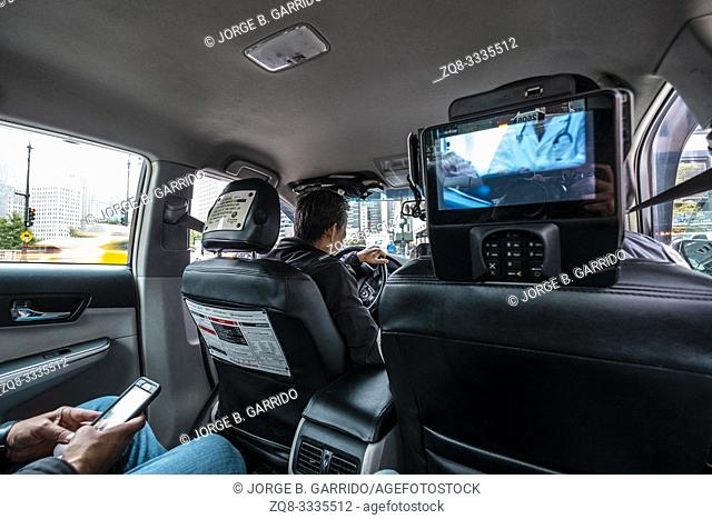 Taxi interior, Chicago
