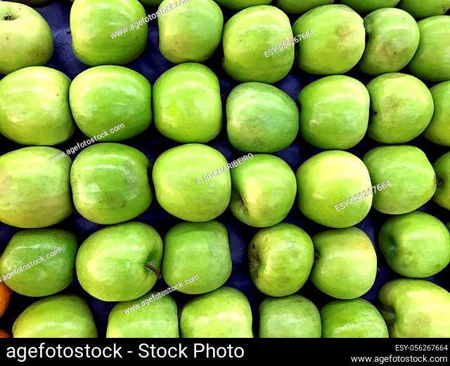 green apple at street market