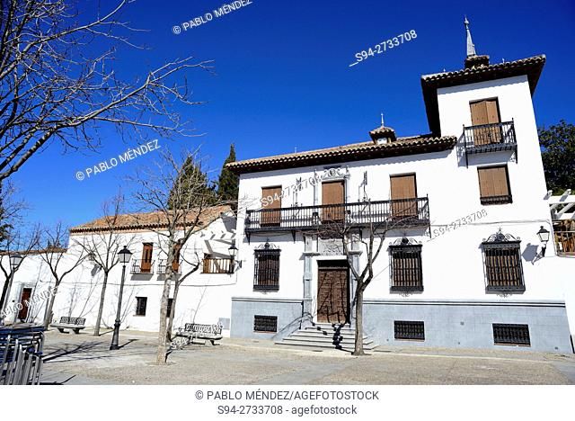 Square of Constitucion of Villaviciosa de Odon, Madrid, Spain