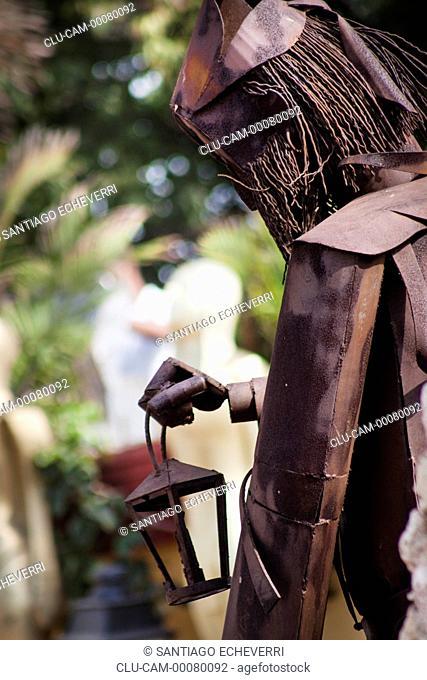 Sculpture on Plaza San Pedro Claver, Cartagena, Bolivar, Colombia
