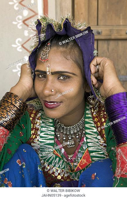 Woman Dancer of Rajasthani Dance troupe, Pushkar, Rajasthan, India