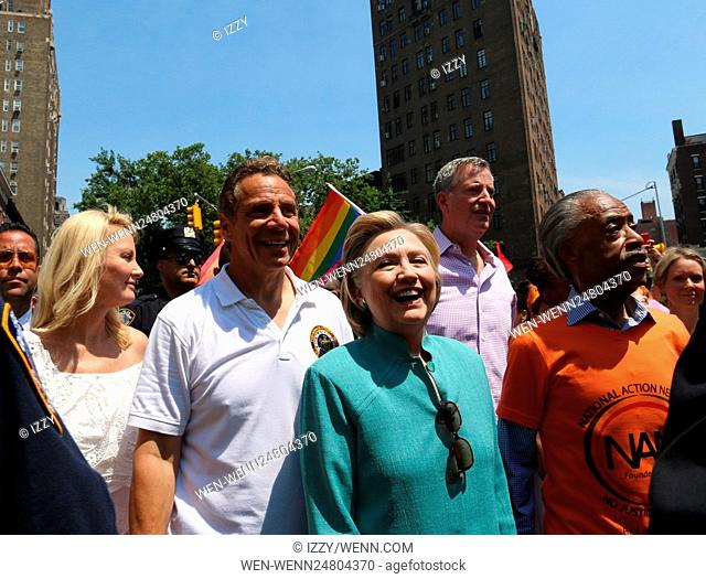 New York City Pride March 2016 Featuring: Sandra Lee, Andrew M. Cuomo, Hilary Clinton Where: New York City, New York, United States When: 26 Jun 2016 Credit:...