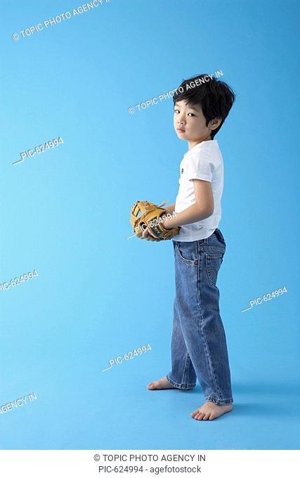 Boy with Baseball Glove, Korea