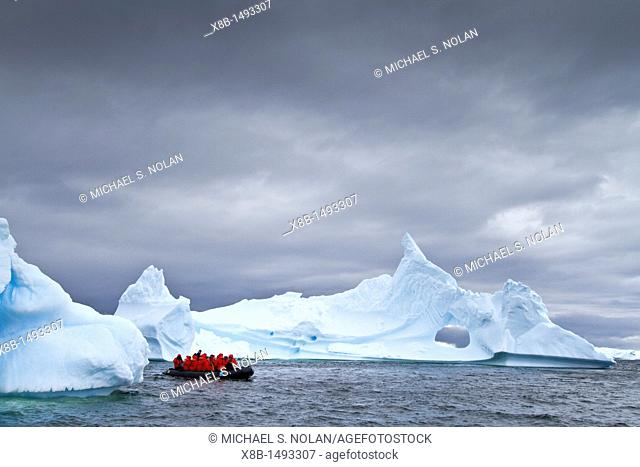 Guests from the Lindblad Expedition ship National Geographic Explorer enjoy Antarctica by Zodiac MORE INFO Lindblad Expeditions pioneered Antarctic travel in...