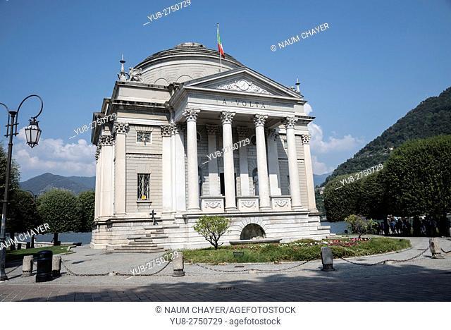 The Tempio Voltiano, Volta Temple museum, Como, southern tip of Lake Como, northern Italy, Europe