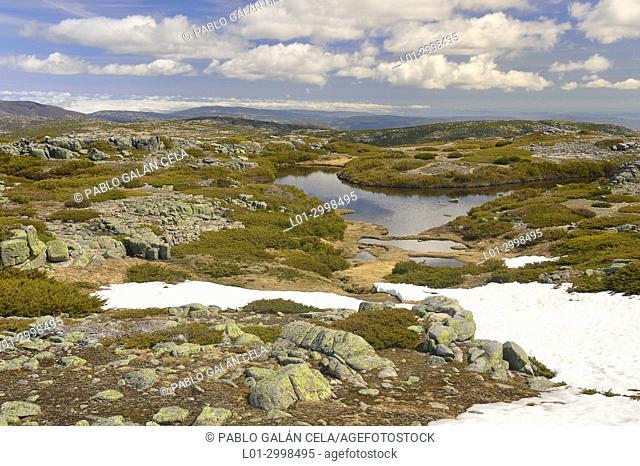 Small lakes in Serra da Estrela. Portugal