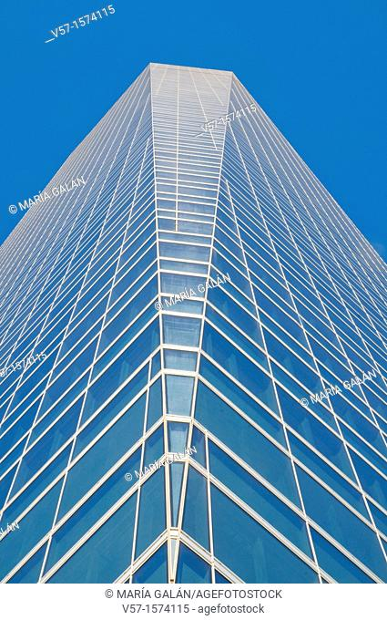 Cristal Tower, view from below. Madrid, Spain