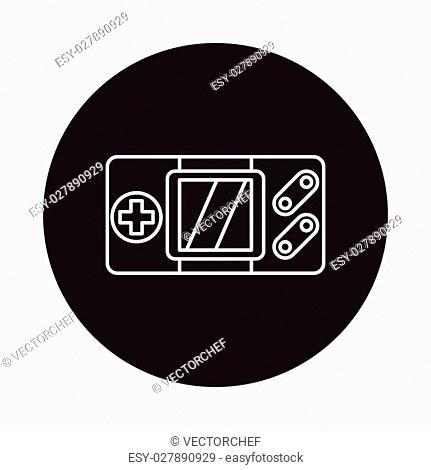 Handheld game consoles line icon