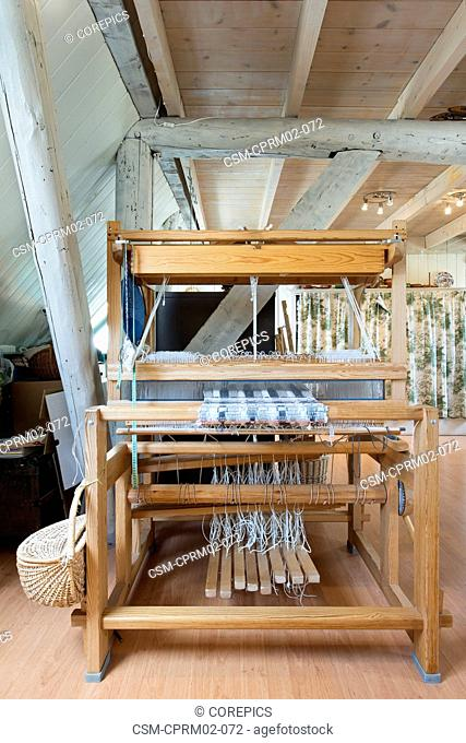 Louet Spring weaving loom - one of the most innovative cleverly designed floor looms