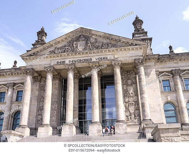 parliament of germany (bundestag) with blue cloudy sky