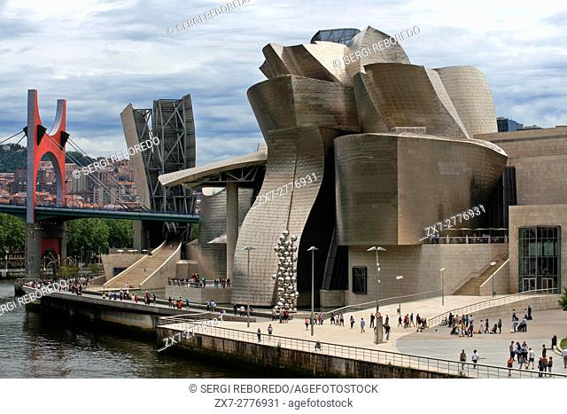 Guggenheim Museum, Bilbao, Euskadi, Basque Country, Spain. One of the stops of the Transcantabrico Gran Lujo luxury train