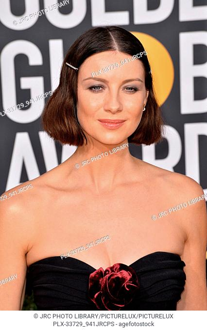 LOS ANGELES, CA. January 06, 2019: Caitriona Balfe at the 2019 Golden Globe Awards at the Beverly Hilton Hotel. © 2019 JRC Photo Library/PictureLux ALL RIGHTS...