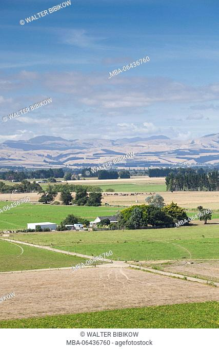 New Zealand, North Island, Martinborough, elevated landscape