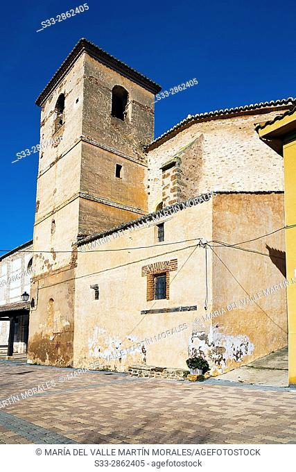 Church in Puebla de Valles. Guadalajara. Castilla la Mancha. Spain. Europe