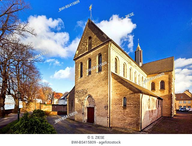 Saint Suitbertus-Church in Duesseldorf-Kaiserswerth from southwest, Germany, North Rhine-Westphalia, Duesseldorf