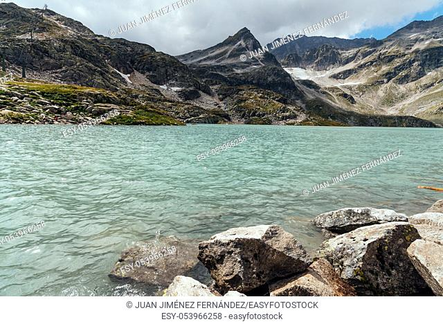 Scenic view of Weissee lake in Austrian Alps
