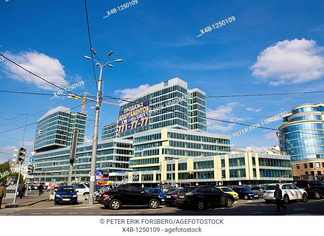 New residential buildings along Petrovka ulitsa street central Moscow Russia Europe