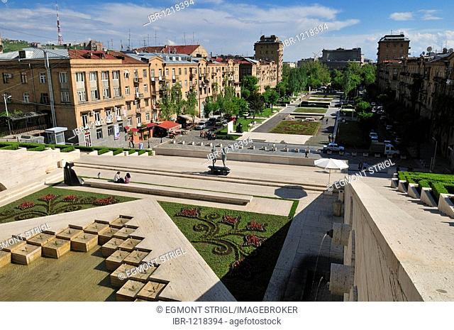 Cascade complex at downtown Yerevan, Jerewan, Armenia, Asia