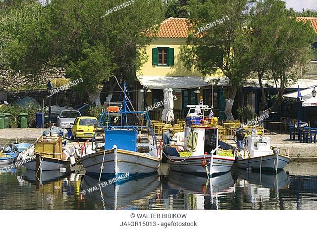 Fishing port, Mithymna Molyvos, Lesbos Island, Greece