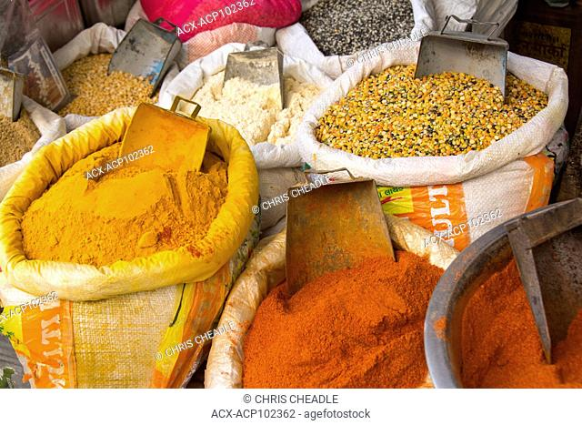 Spice market in Udaipur, Rajastan, India